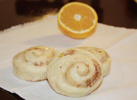 Cinammon rolls all'arancia