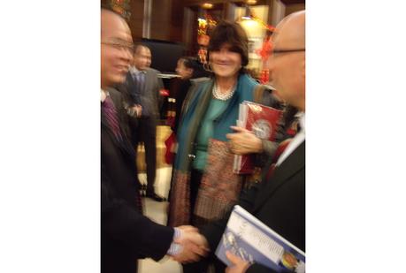 Stefano Vernole con S.E. Ding Wei Ambasciatore della Cina