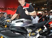 Dovizioso, Badovini Fogarty allo stand Ducati EICMA