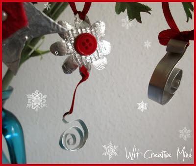 Decorazioni per l'albero di Natale con alluminio riciclato