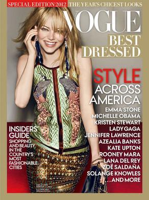Emma Stone è la meglio vestita del 2012 secondo Vogue