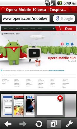 opera mobile 10 1 android Download Opera Mobile 10.1 Beta per Android