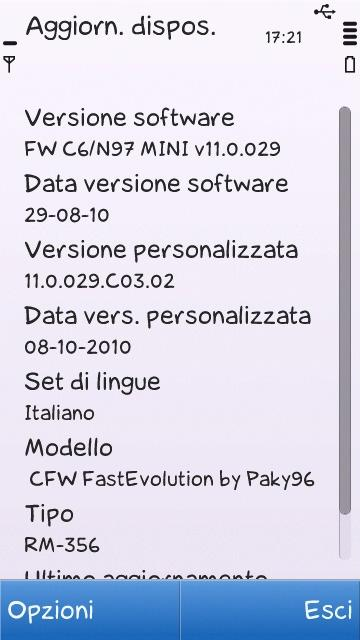 FastEvolution C6/n97 MINI by Paky96 [FW C6 v11 PORTING ON...