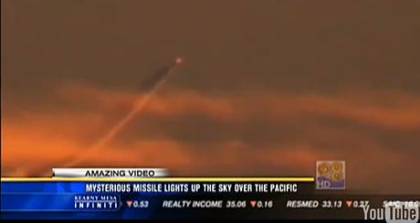 Il mistero del missile in California