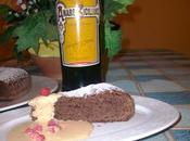 Torta Saraceno Cacao (senza uova senza burro) Zabaglione all'Averna Fragoline