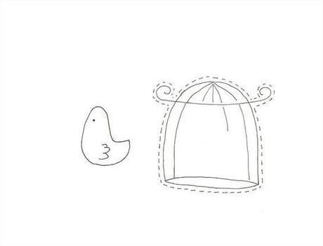 Felt Mania – Felt bird in cage