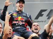 Grandi festeggiamenti Vettel