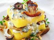 Lasagna Polenta Funghi Gorgonzola (pentola pressione)