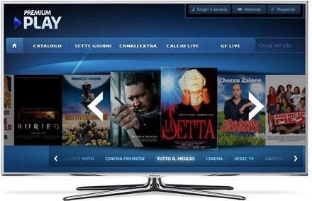 Mediaset Premium Play sul Samsung Smart TV