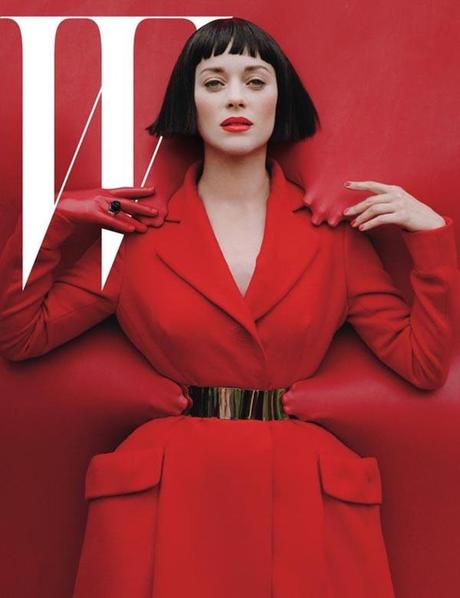 marion cotillard-w-magazine by tim walker, red hot