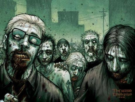 The Walking Dead Comic Art by Tony Moore