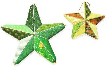 Decorazioni per l 39 albero di natale con il patchwork su - Decorazioni stelle di natale ...