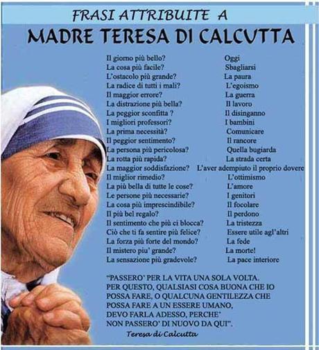Super Madre Teresa di Calcutta - Paperblog TC29