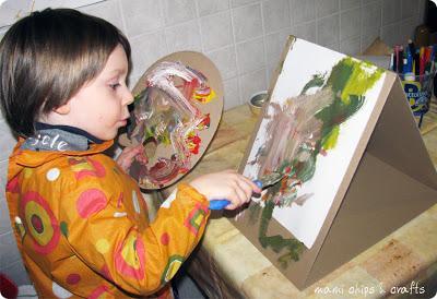 Come un vero pittore cavalletto e tavolozza paperblog for Cavalletto pittore