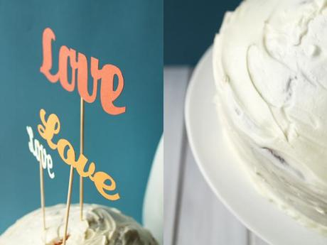cake topper and white chocolate cake