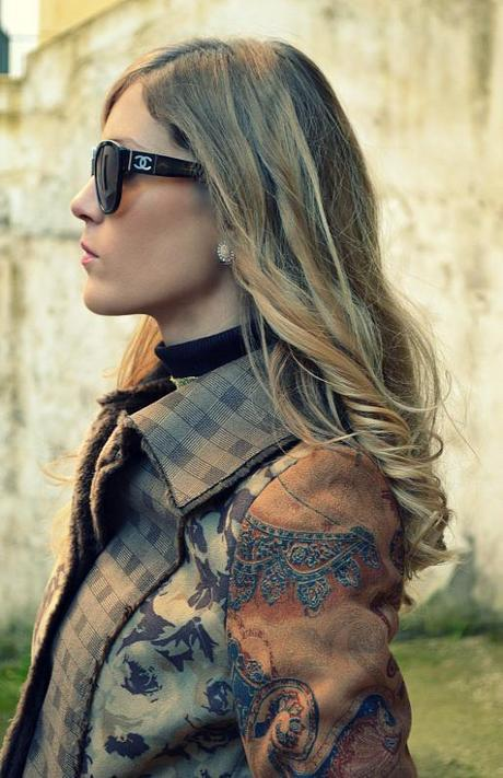 GoaGoa Coat, Miluna bracelet, Chanel sunglasses, Romwe bag