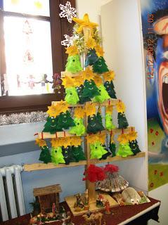 Alberi di natale dalle scuole paperblog for Addobbi natalizi per la classe
