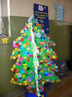 Alberi di natale dalle scuole paperblog for Addobbi natalizi scuola primaria