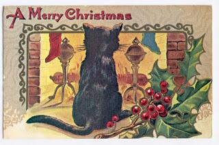 buon natale! auguri vintage con gatti  merry christmas cards  .... with cats