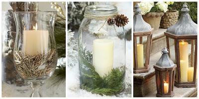 Decorazioni natalizie candele e lanterne pottery barn - Decorazioni natalizie con candele ...