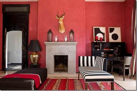 Uso del colore rosso paperblog - Pareti rosse soggiorno ...