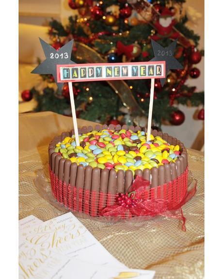 Torta al cioccolato con camy cream al torrone per un buon 2013!