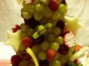 Centrotavola Natalizio, albero Natale frutta