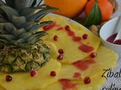 Carpaccio ananas salsa melagrana