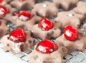 Stelline marzapane cioccolato (Marzipan chocolate stars)