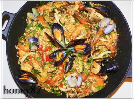 Paella de pescado paperblog - Paella de pescado ...