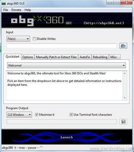 abgx schermata principale