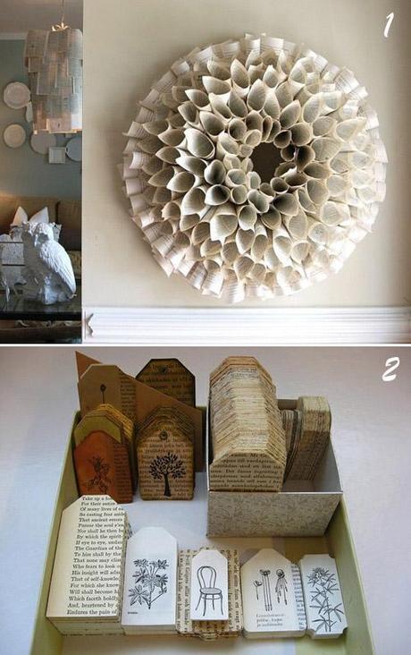 Riciclo idee decorative con vecchi libri per natale e - Idee decorative per natale ...