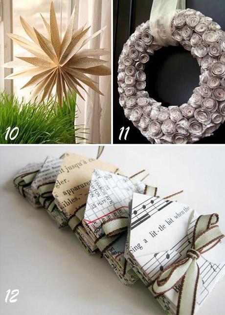 Riciclo idee decorative con vecchi libri per natale e non solo paperblog - Idee decorative per natale ...
