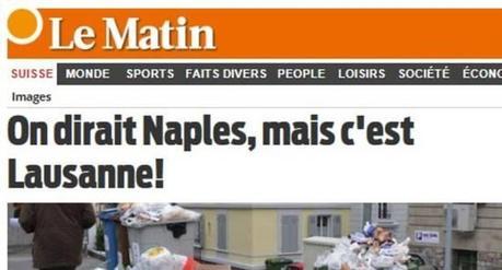 Vergognoso giornale di Losanna su Napoli