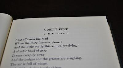 Goblin Feet di Tolkien in The Open Door to poetry, edizione americana 1931