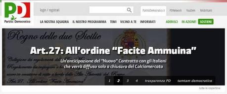 Pd:per la campagna elettorale sceglie un falso storico sul Regno delle due Sicilie