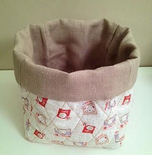 Cucito creativo altri contenitori multiuso in tessuto for Tutorial cucito creativo facile