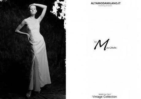 L 39 abito da sposa monospalla stile minimal chic per le for Stile minimal chic