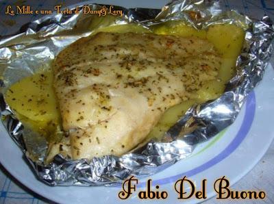 Filetto di persico al cartoccio su letto di patate paperblog - Filetto di orata al forno su letto di patate ...