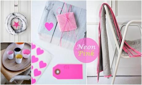 neon pink home decoration tag gift heart