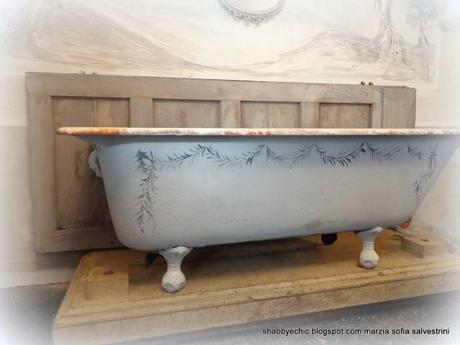 Come una vecchia vasca diventa gustaviana i puntata for Vasca per papere