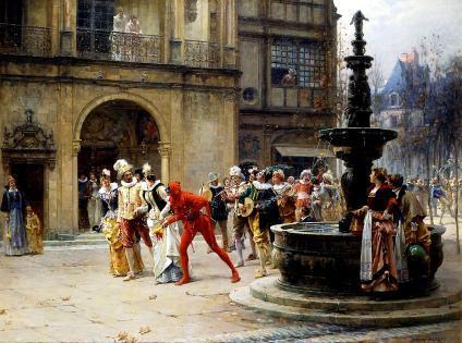 Adrien Moreau maschere del XVII al tempom dei Medici