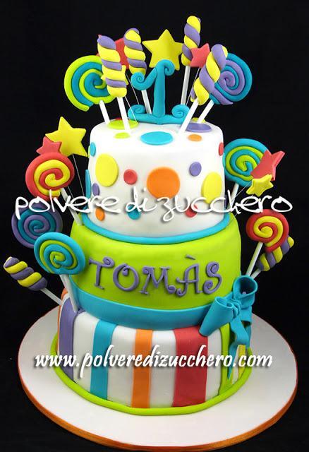 abbastanza Torta caramelle candy cake per il primo compleanno di un bimbo  ZA25