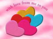 Cuori effetto glitter Valentino