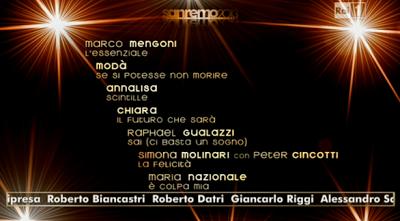 Sanremo 2013: terza puntata e classifica provvisoria