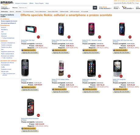Offerta speciale nokia cellulari e smartphone a prezzo for Amazon offerte cellulari