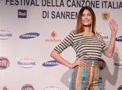 FESTIVAL DELLA CANZONE ITALIANA SANREMO BIANCA BALTI wears Dolce Gabbana