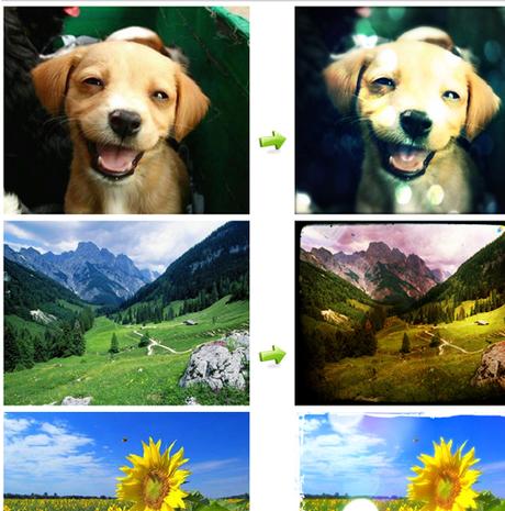 Aggiungere filtri ed effetti a foto online photogramio for Effetti foto online
