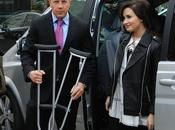 Demi Lovato stampelle alla London Fashion Week!