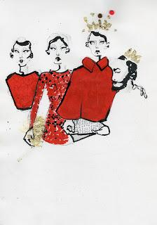 Dolce & Gabbana a/i 2013/14 illustrated by Fiona Gourlay